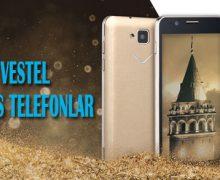 "Vestel'den altın rengi telefon ""Venüs"""