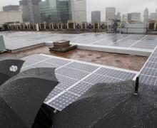 Yağmurdan enerji üreten güneş paneli