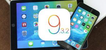 Apple, iOS 9.3.2 güncellemesini geri çekti